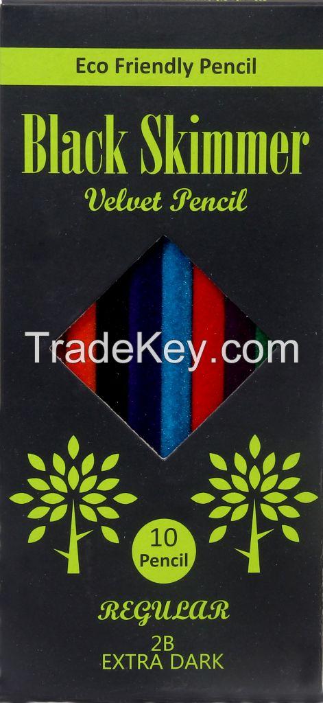 Black Skimmer velvet pencil