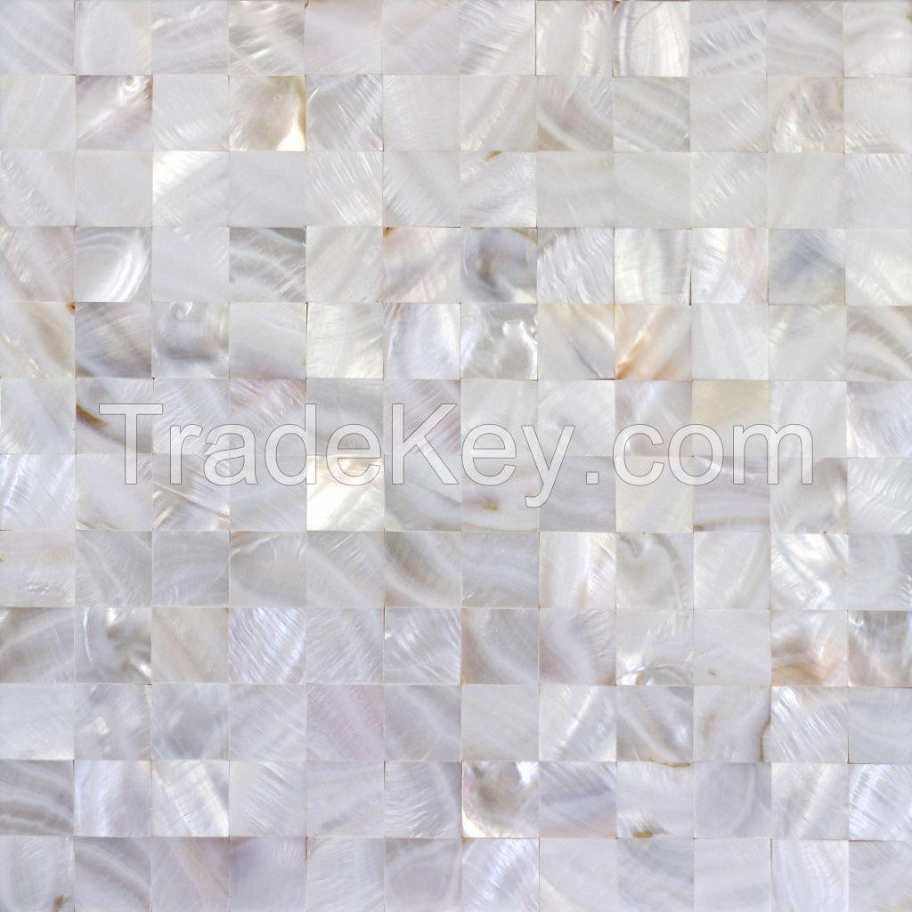 Natural white shell mosaic tile wall board