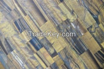 Marble tiger's eye stone board table top