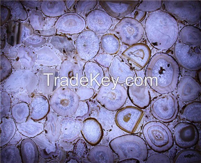 onxy stone slab agate board vanity top