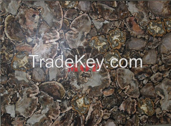 Stone slab petrified wood table sheet