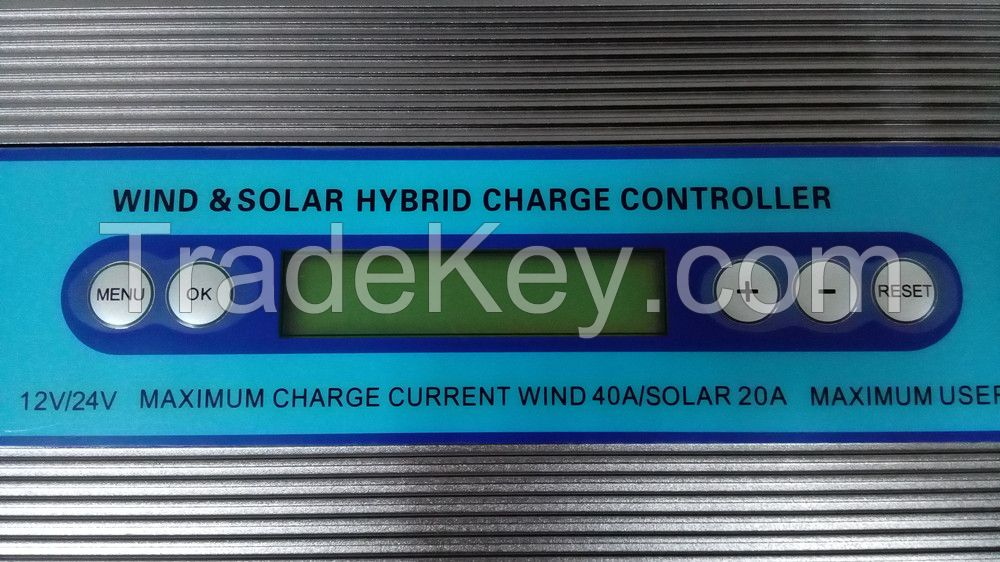 1000W Off grid Wind solar hybrid charge controller with MPPT and PWM
