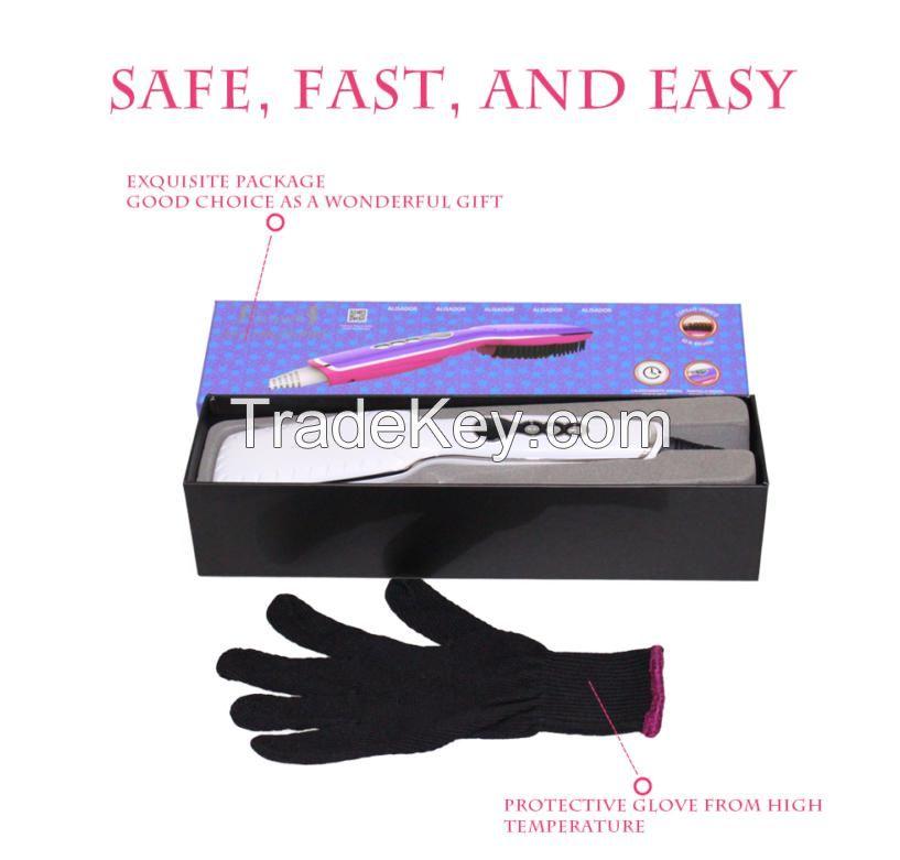 Hair Care Showliss Hair Straightening Ceramic Brush LED Display Temperature Control