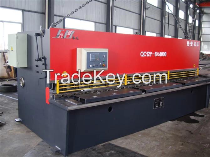 QC12Y 8X4000 Cutting the steel plate machine, Hydraulic Swing Beam Shearing Machine
