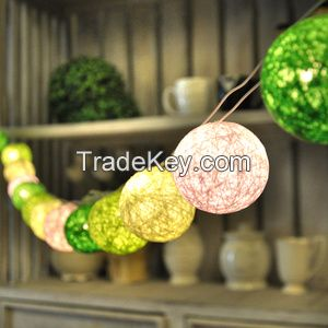 Decoration String Light Indoor Outdoor Thread Cotton Ball Lamp