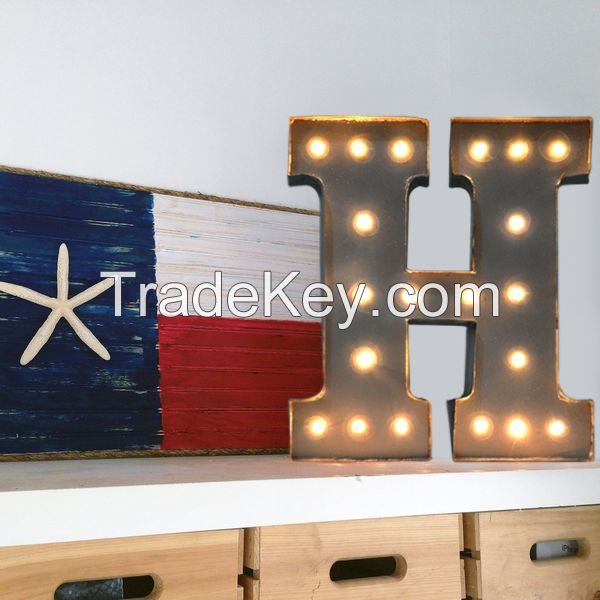 Vintage Wall Decoration Lamp Festival Gift Light Marquee Letter