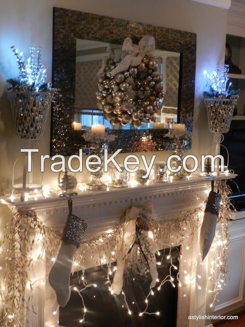100 LED CE Plug Curtain String Light Indoor Home Decoration