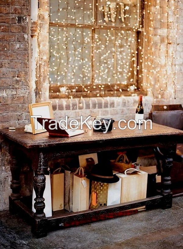 100 LED CE Plug Curtain String Light Indoor Home Decoration