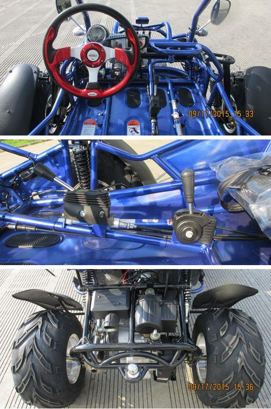 race 4 stroke gasoline 9hp all terrian reverse transmission go kart