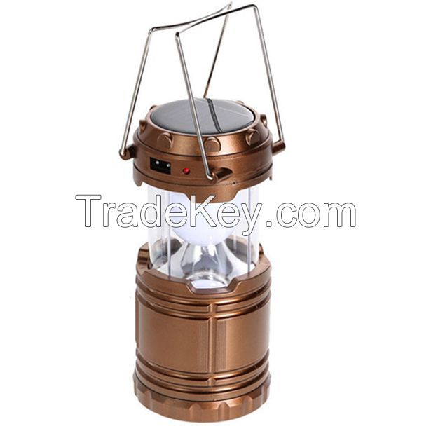 Portable USB Solar Rechargeable Lantern Outdoor Camping Light