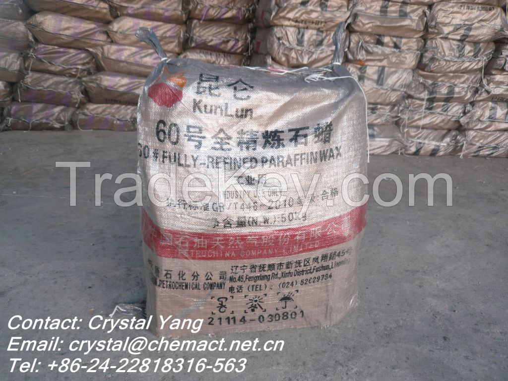 candle making white cheap kunlun fully refined paraffin wax