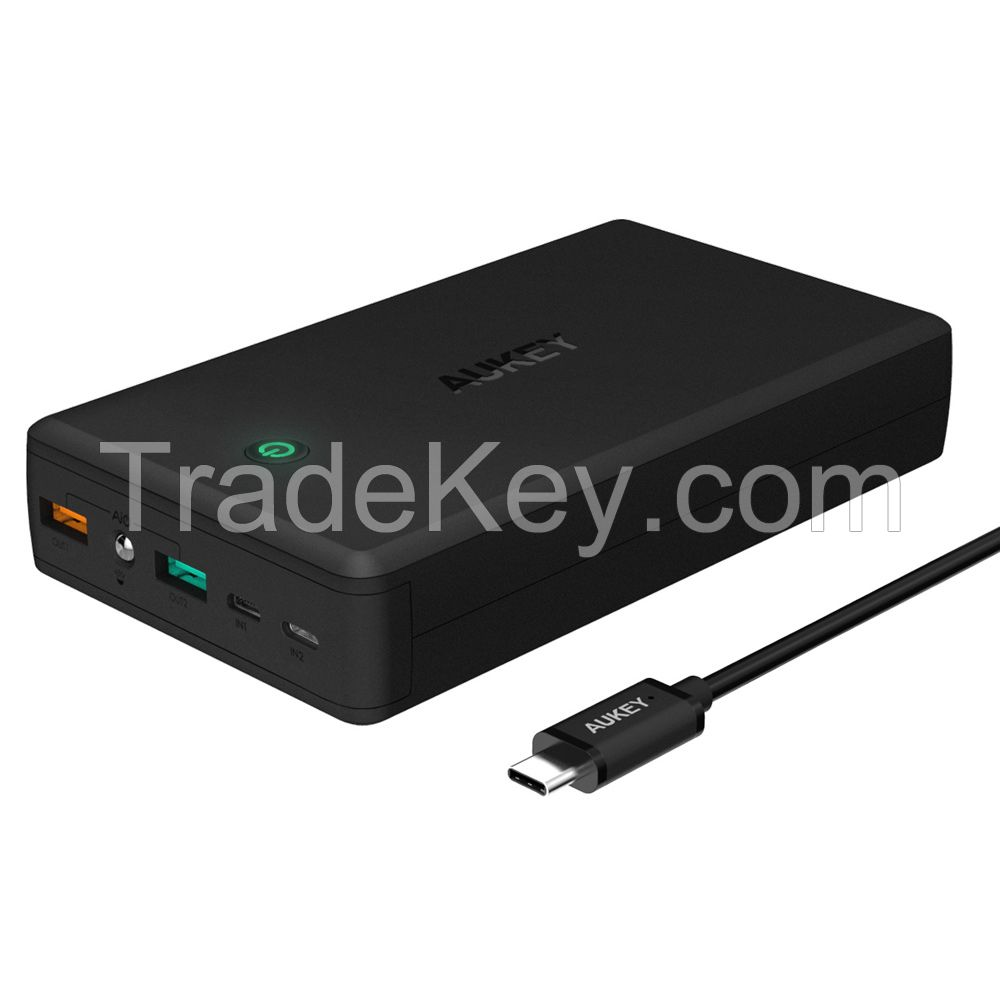 AUKEY PB-T11 30000mAh 2-Port USB Power Bank with Quick Charge 3.0