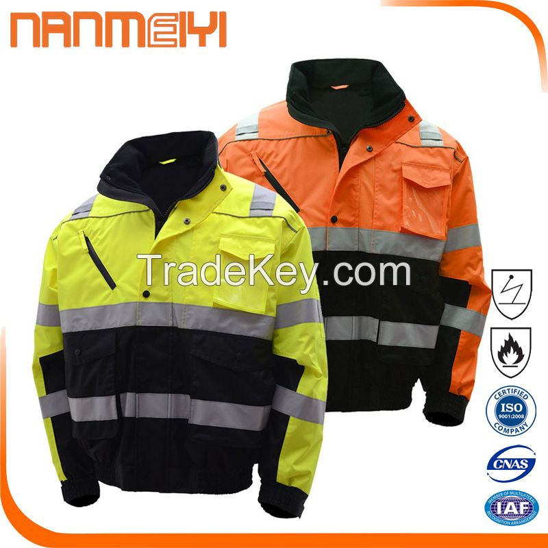 European Style Heavy Winter Reflective Safety Jacket For Men