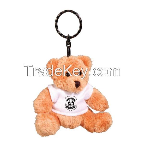Plush teddy bear keyring