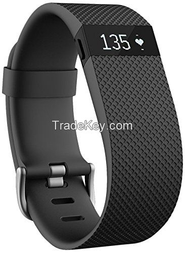 Charge HR Wireless Activity Wristband, Black, Large