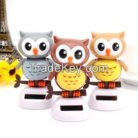 Solar Powered Dancing Owl-Brown   (Colors may vary)