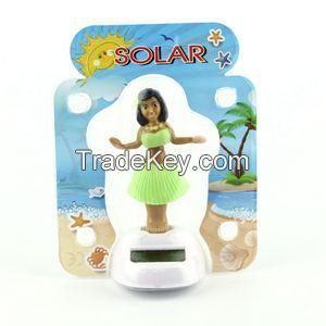 Solar Powered Dancing Hula Girl-Green Suit  (Colors Vary)