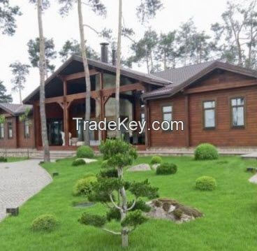 Wooden houses and villas from pine Prefabricated House from factory