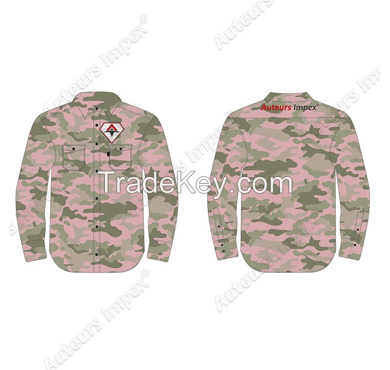Custom Long Sleeve Work Shirts