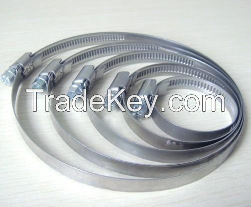 German/America type Galvanized iron hose clamp