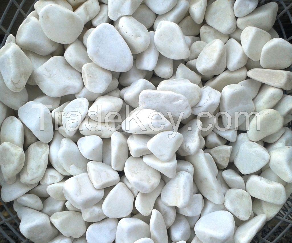Dolamith pebbels white