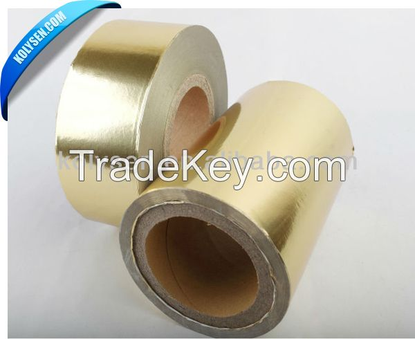 Gold Siver Laminated Foil Cigarette Wrapping Paper in Rolls