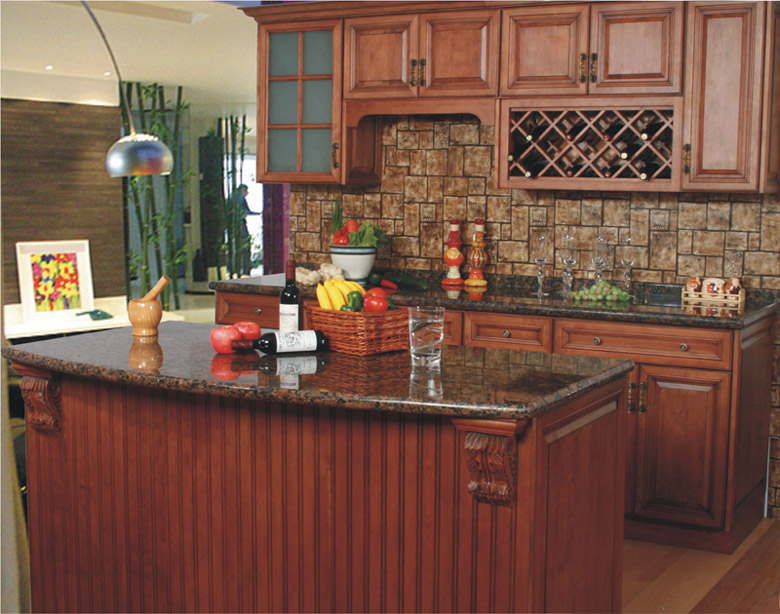 Solid Wood Kitchen Cabinet From China-1