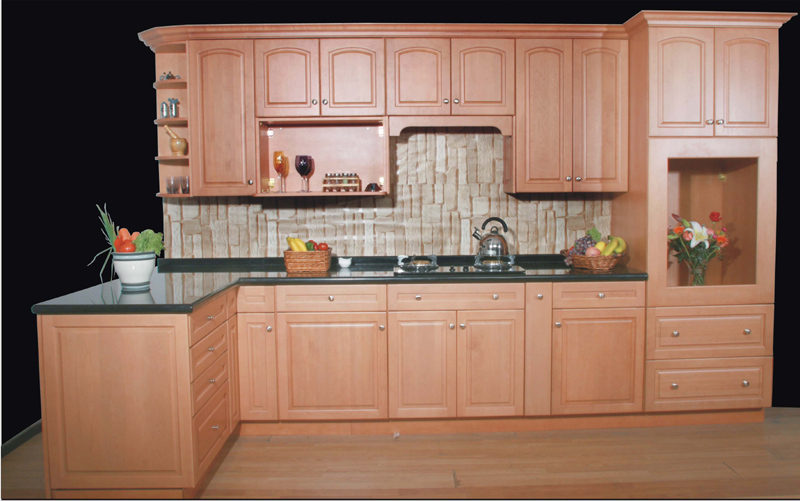 Solid Wood Kitchen Cabinet From China-2