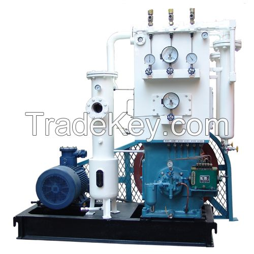 Piston acetylene gas compressor