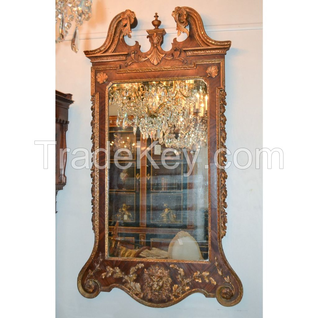 18th Century English Chippendale Looking Glass