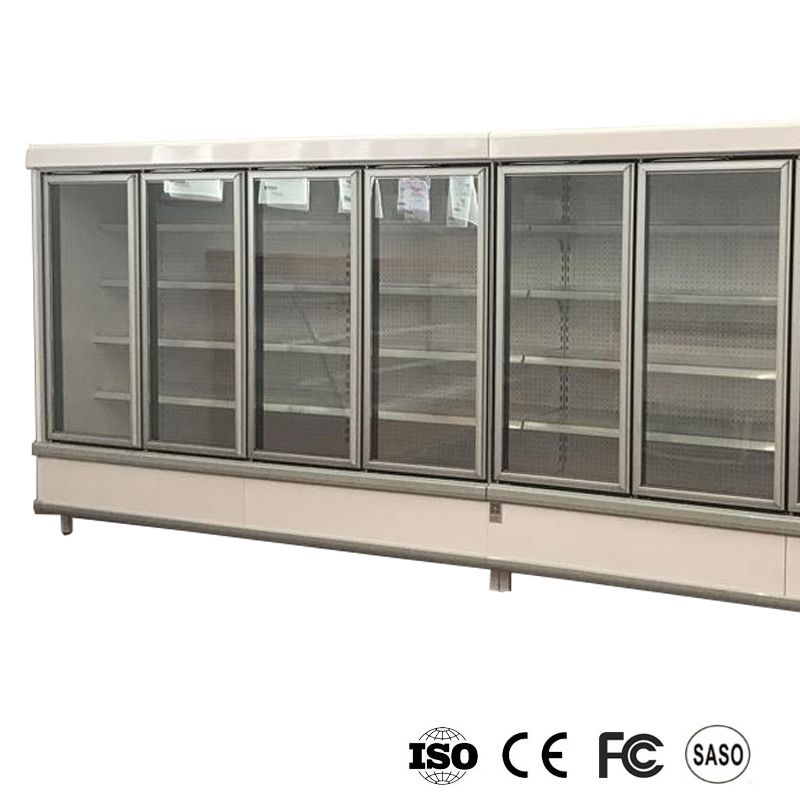 Glass Door Curtain Showcase For Commercial Refrigerator