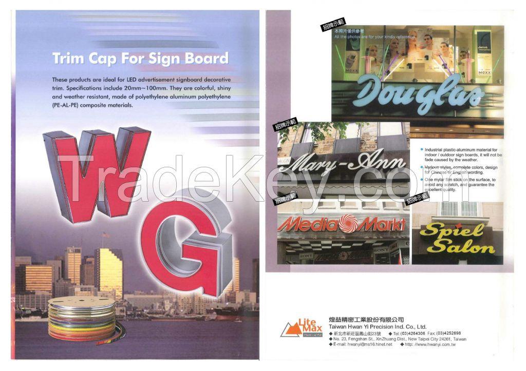Trim Cap For Signage