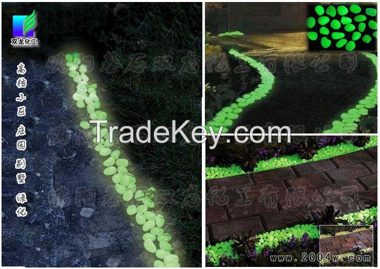 Luminous stone, luminous cobblestone, gravel luminous, luminous sand