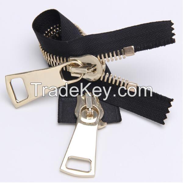 Silvery Metal Zipper