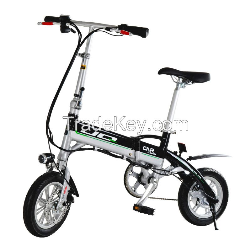JQ 12inch Folding Electric bike Aluminium Alloy Electric Aided-Bicycle