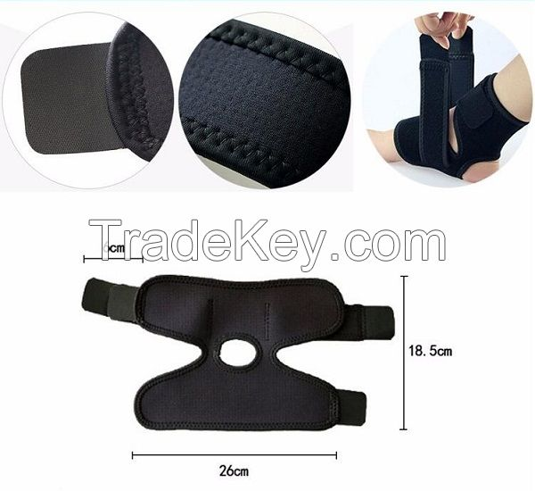 Elastic black ankle brace