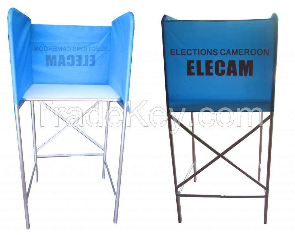Foldable Metal election booth for 1 person