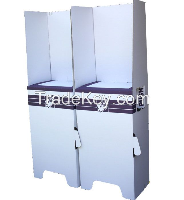 Pravite cardboard polling booth for 2 person