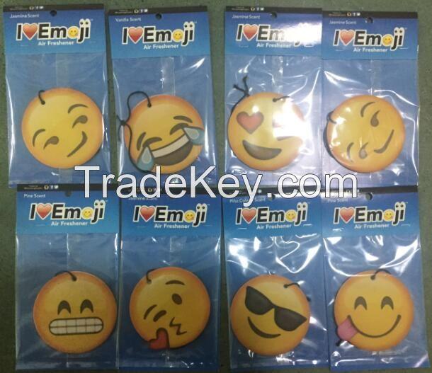 OEM hanging funny emoji smiley face car air freshener