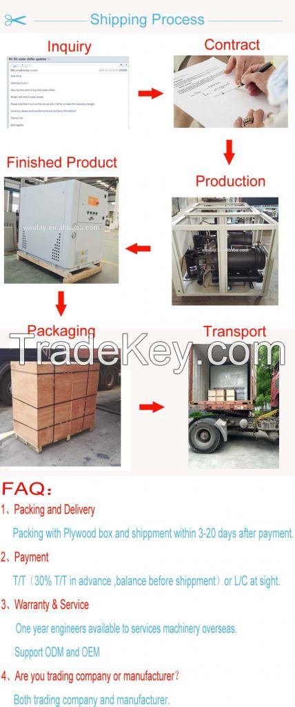 low noise and high efficiency industrial water chiller