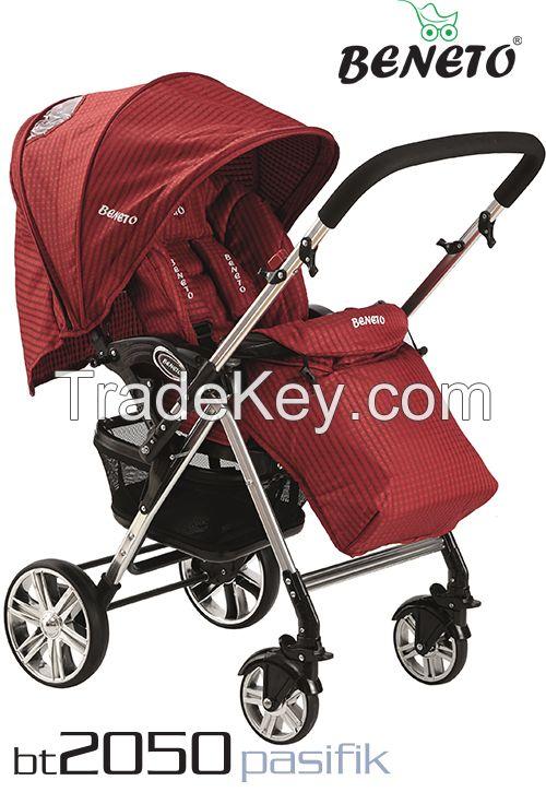Beneto BT-2050T Double side Aluminum Travel System Baby Stroller