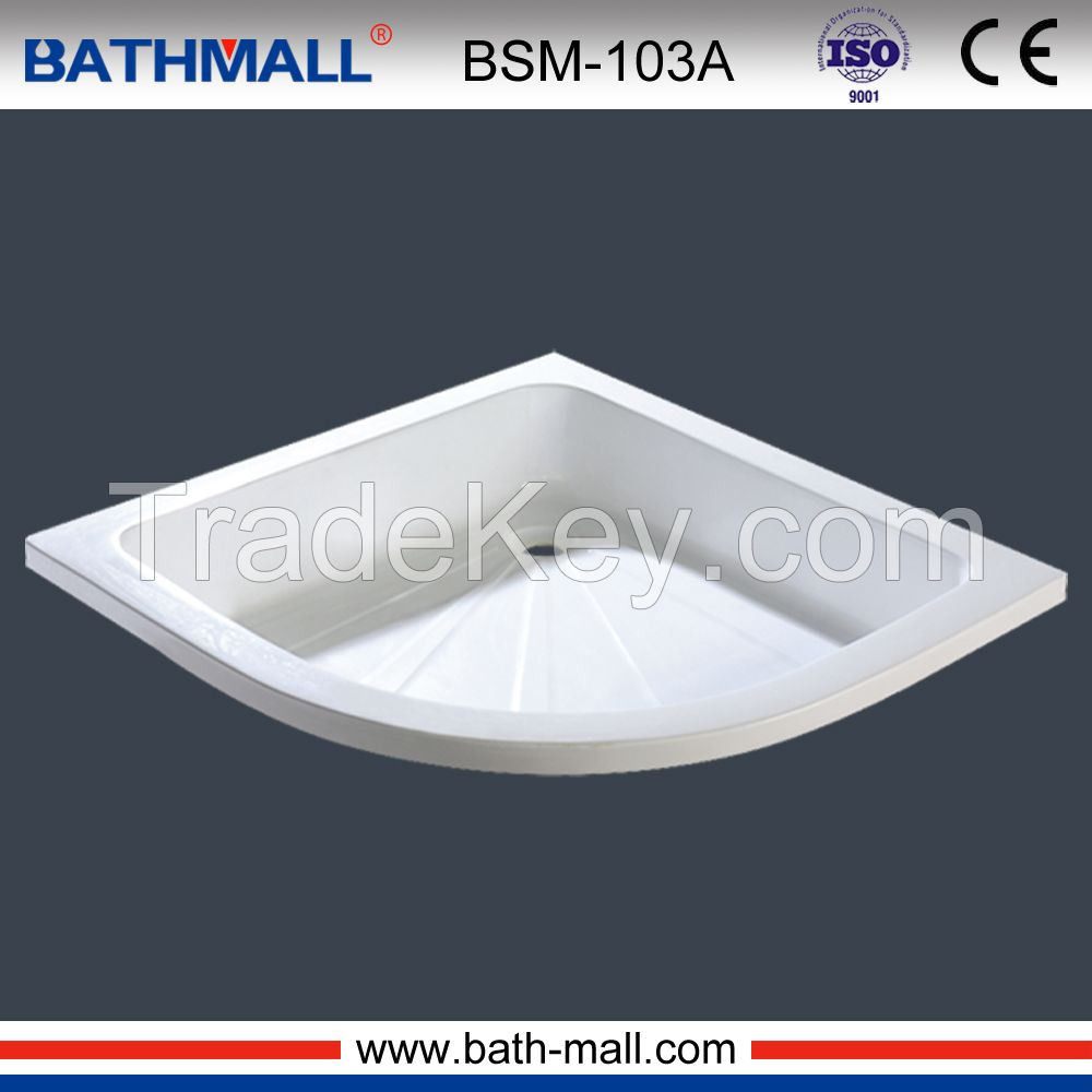 Simple drop in acrylic shower tray for wholesale