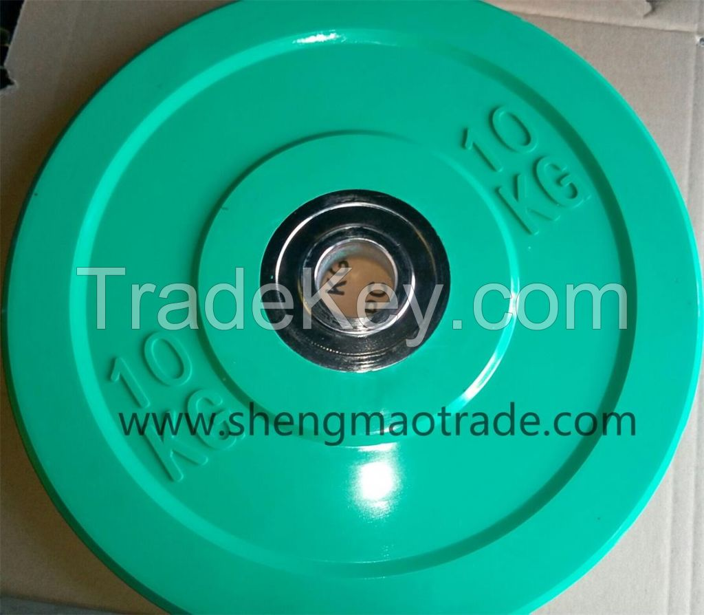 Soild Rubber Barbell All Rubber Olympic Barbell Plate