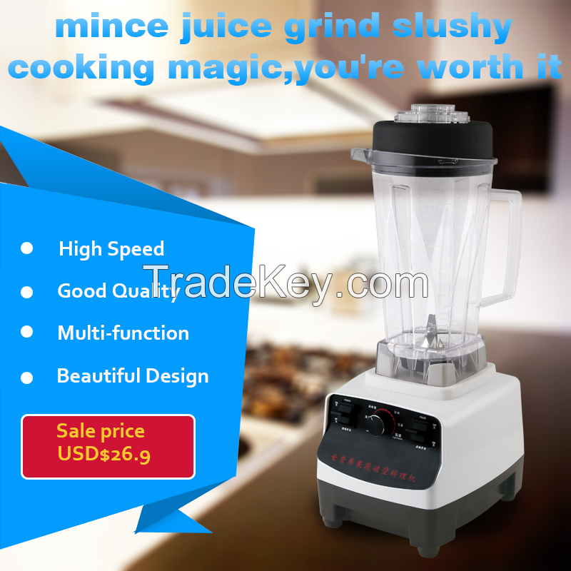 Blender 1500/1350W 2000ml Plastic Container Material and Traditional/Work Top Type electric blender Push Button Controls Type