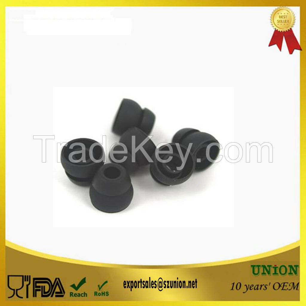 Customized Tri-level replacement SILICONE earbud TIPS cover for earphone with good price