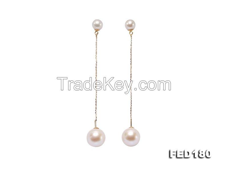 Freshwater Pearl Dangle Earring in 18k Gold