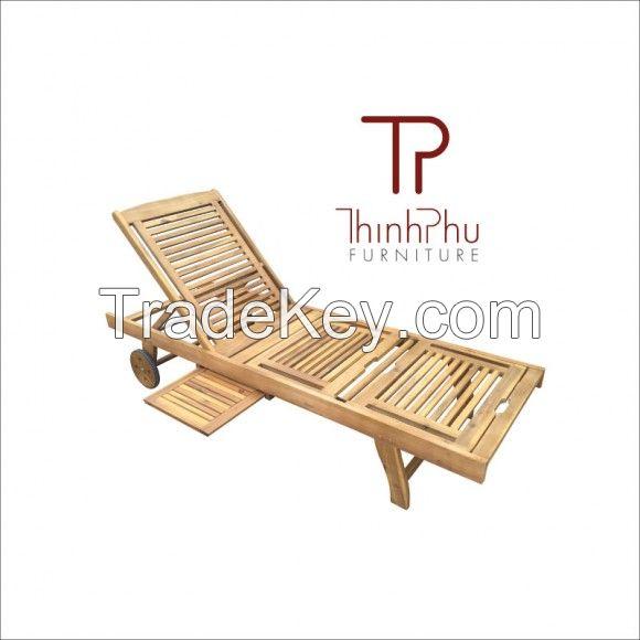 FAMIGO - Wood Outdoor Sun Lounger - Best selling furniture