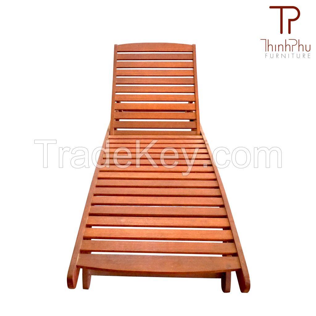 FLORY Sunbed- Top grade Acacia wood - Garden Furniture