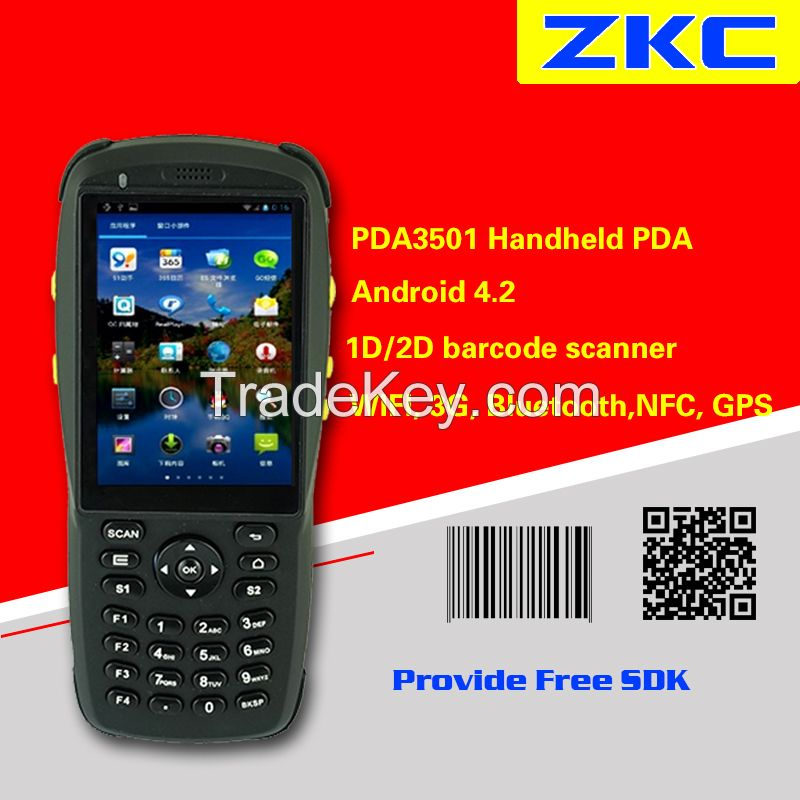 Handheld 2D Barcode Scanner Android PDA With Camera