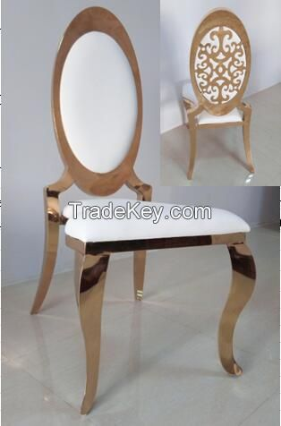 New Fashion Golden Stainless Steel Chair Quality Choice
